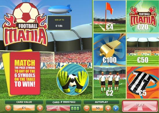 Play Football Mania Scratch Online at Casino.com Australia