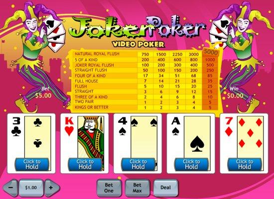 free online slots de poker joker